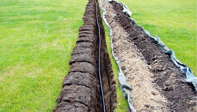 подземная укладка кабеля