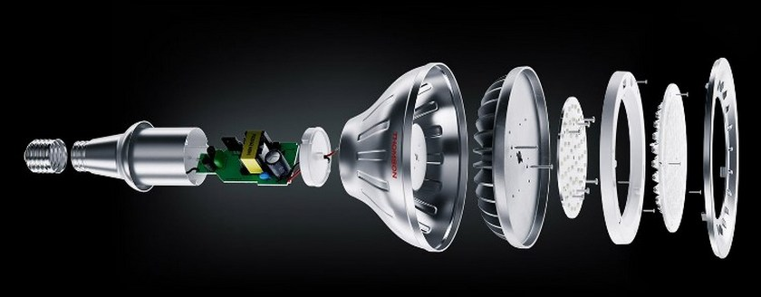 конструкция светодиодных ламп